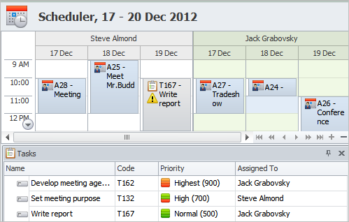 Project Event Scheduling