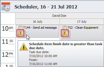 Resource Scheduling and Leveling on the Scheduler