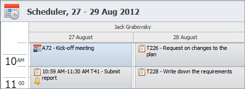 schedule actions tasks appointments