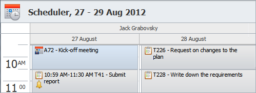 schedule agenda software tasks and appointments