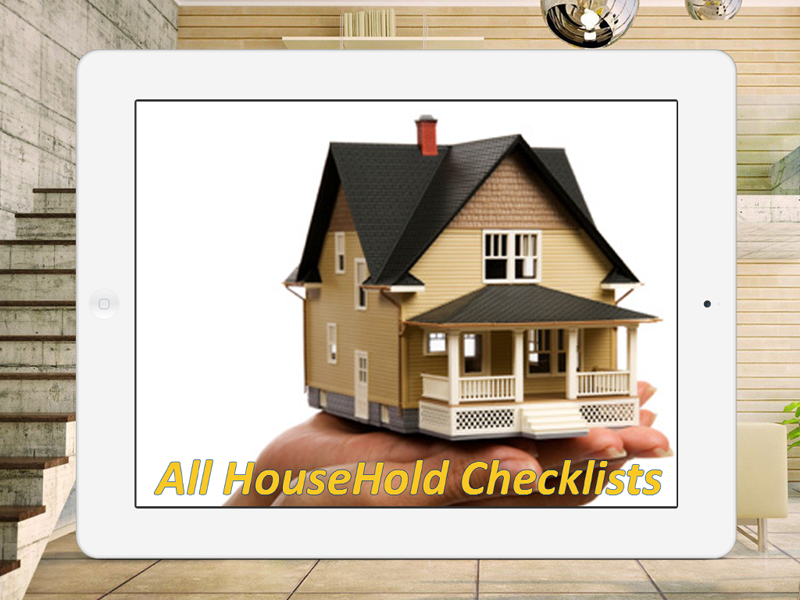All Household Checklists Screenshot