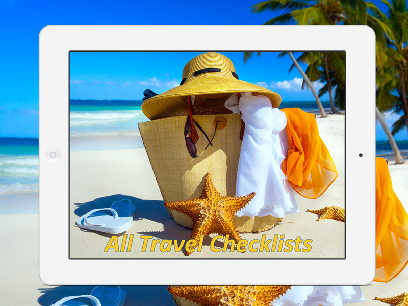 All Travel Checklists App is an interactive library that helps you not to forget